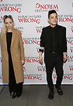 Portia Doubleday and Rami Malek attend 'The Play That Goes Wrong' Broadway Opening Night at the Lyceum Theatre on April 2, 2017 in New York City.
