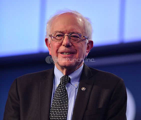 MIAMI, FL - MARCH 09: Bernie Sanders pictured during the Univision News and Washington Post Democratic Presidential Primary Debate sanctioned by the Democratic National Committee at Miami Dade College on March 9, 2016 in Miami, Florida. Credit: mpi10/MediaPunch