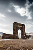 USA, Wyoming, Gardiner, Yellowstone National Park, the North Entrance into the Park
