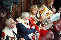 18 May 2016 - London England - Baroness Michelle Mone (2nd R) is pictured ahead of the Queen's Speech during the State Opening of Parliament in London in the House of Lords. The State Opening of Parliament marks the formal start of the parliamentary year and the Queen's Speech sets out the government's agenda for the coming session. Photo Credit: ALPR/AdMedia