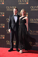 Rafe Spall and Elize du Toit<br /> arriving for the Olivier Awards 2017 at the Royal Albert Hall, Kensington, London.<br /> <br /> <br /> &copy;Ash Knotek  D3245  09/04/2017