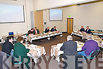 Listowel Town Council: Listowel Town Council in session at the first meeting ever held outside the council offices at the Listowel Family Resource Centre on Monday night last.