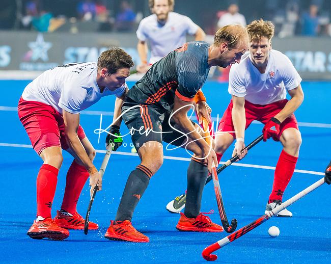 BHUBANESWAR (INDIA) -  Billy Bakker (Ned)  tijdens Nederland-Canada bij het WK Hockey heren. .COPYRIGHT KOEN SUYK