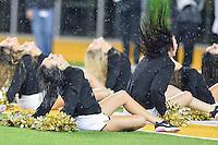 Baylor dancers perform during an NCAA football game, Saturday, November 22, 2014 in Waco, Tex. Baylor defeated Oklahoma State 49-28. (Mo Khursheed/TFV Media via AP Images)