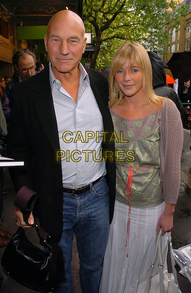 """PATRICK STEWART & GUEST.At the """"Sunday In The Park With George"""" Press Night, Whyndhams Theatre, London, England, May 23rd 2006..half length.Ref: CAN.www.capitalpictures.com.sales@capitalpictures.com.©Can Nguyen/Capital Pictures"""
