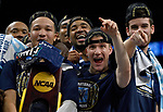 SAN ANTONIO, TX - APRIL 02: Jalen Brunson #1 of the Villanova Wildcats celebrates after the 2018 NCAA Men's Final Four National Championship game against the Michigan Wolverines at the Alamodome on April 2, 2018 in San Antonio, Texas.  (Photo by Chris Steppig/NCAA Photos via Getty Images)