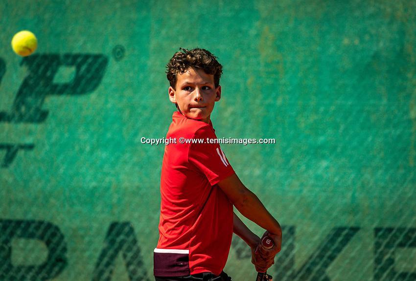 Hilversum, Netherlands, Juli 29, 2019, Tulip Tennis center, National Junior Tennis Championships 12 and 14 years, NJK, Yanik Maarsen (NED)<br /> Photo: Tennisimages/Henk Koster