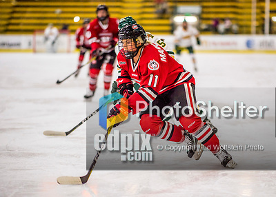 25 November 2016: Saint Cloud State Huskie Defender Caroline Markstrom, a Senior from Kovland, Sweden, in action against the University of Vermont Catamounts at Gutterson Fieldhouse in Burlington, Vermont. The Lady Cats defeated the Huskies 5-1 to take the first game of the 2016 Windjammer Classic Tournament. Mandatory Credit: Ed Wolfstein Photo *** RAW (NEF) Image File Available ***
