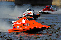 Gary Barber (#20), Steve Merleau (#66) and Mike Beegle (#9) SST-45 class.Bay City River Roar, Bay City,Michigan USA.26-2821 June, 2009..©F. Peirce Williams 2009 USA.F.Peirce Williams.photography.ref: RAW (.NEF) File Available