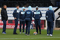 Sutton players inspect the pitch during Cambridge United vs Sutton United , Emirates FA Cup Football at the Cambs Glass Stadium on 5th November 2017