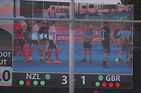 Final score during the Pro League Hockey match between the Blacksticks men and Great Britain, National Hockey Arena, Auckland, New Zealand, Saturday 8 February 2020. Photo: Simon Watts/www.bwmedia.co.nz