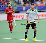 The Hague, Netherlands, June 15: Martin Zwicker #20 of Germany looks on during the field hockey placement match (Men - Place 5th/6th) between Belgium and Germany on June 15, 2014 during the World Cup 2014 at Kyocera Stadium in The Hague, Netherlands. Final score 4-2 (1-1)  (Photo by Dirk Markgraf / www.265-images.com) *** Local caption ***