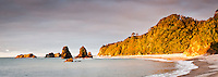 A remote, wild West Coast beach at sunset - South Westland, West Coast, New Zealand