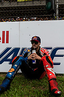 3rd November 2019; Sepang Circuit, Sepang Malaysia; MotoGP Malaysia, Race Day;  The number 43 Pramac Racing rider Jack Miller with a quiet moment before the race - Editorial Use