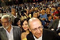 SÃO PAULO, SP, 04 DE MARÇO DE 2011 - CARNAVAL 2011 / UNIDOS DO PERUCHE - O governador do Estado de São Paulo Geraldo Alckmin é visto, durante desfile do Grupo Especial na noite desta sexta-feira (4), no Sambódromo do Anhembi região norte da capital paulista. (FOTO: VANESSA CARVALHO / NEWS FREE).