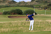 Rory McIlroy (NIR) on the 16th during Round 3 of the Alfred Dunhill Links Championship 2019 at St. Andrews Golf CLub, Fife, Scotland. 28/09/2019.<br /> Picture Thos Caffrey / Golffile.ie<br /> <br /> All photo usage must carry mandatory copyright credit (© Golffile | Thos Caffrey)