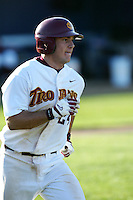 Jeff Clement of the Southern California Trojans runs the bases during a 2004 season game at Dedeaux Field in Los Angeles, California. (Larry Goren/Four Seam Images)