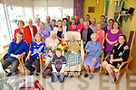 Molly Coffey seated front centre from Kells and resident iin St Anne's Hospital Cahersiveen celebrated her 100th birthday with family and friends on Saturday.