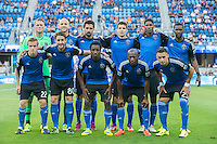 San Jose, California - July 1, 2015: The San Jose Earthquakes vs LA Galaxy during the Lamar Hunt U.S. Open Cup at Avaya Stadium. Final Score Galaxy 1, Earthquakes 0.