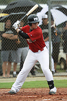 Nick Longhi, #25 of Venice Senior High School, Florida playing for the Cardinals Scout Team during the WWBA World Champsionship 2012 at the Roger Dean Complex on October 25, 2012 in Jupiter, Florida. (Stacy Jo Grant/Four Seam Images).