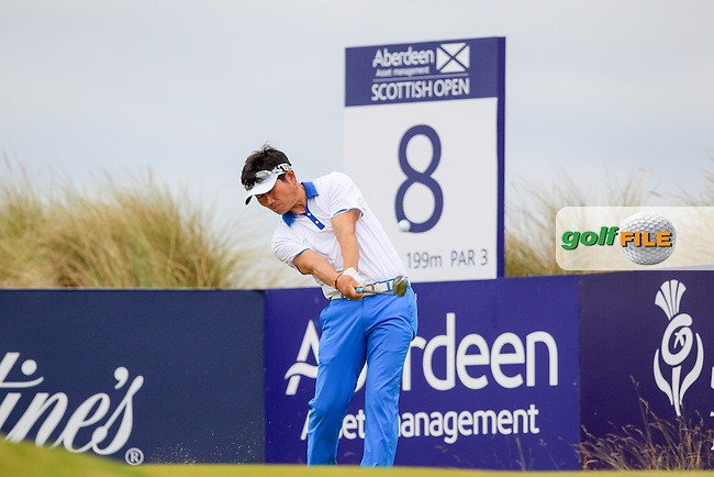 Y.E. Wang (KOR) during round 3 of the Aberdeen Asset Management Scottish Open 2016, Castle Stuart  Golf links, Inverness, Scotland. 09/07/2016.<br /> Picture Fran Caffrey / Golffile.ie<br /> <br /> All photo usage must carry mandatory copyright credit (&copy; Golffile | Fran Caffrey)