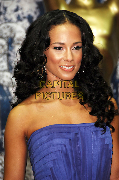 ALICIA KEYS .At the World Music Awards in Monte Carlo, Monaco, 9th November 2008..arrivals red carpet portrait headshot strapless purple .CAP/TTL .©TTL/Capital Pictures