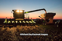 Farm, harvest, corn, sunset, Marion County, Illinois, USA, agriculture, crop, combine, grain wagon, harvester, evening
