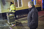 © Joel Goodman - 07973 332324 . FILE PICTURE DATED 05/05/2013 of Greater Manchester's Police and Crime Commissioner , Tony Lloyd , looking on as a policeman detains a man following a domestic dispute in Central Manchester overnight as the British Home Secretary , Theresa May , takes questions at the annual Police Federation conference on licensing and policing the night time economy , today (Wednesday 15th May 2013) . Photo credit : Joel Goodman