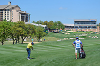 Bud Cauley (USA) hits his second shot on 18 during day 1 of the Valero Texas Open, at the TPC San Antonio Oaks Course, San Antonio, Texas, USA. 4/4/2019.<br /> Picture: Golffile | Ken Murray<br /> <br /> <br /> All photo usage must carry mandatory copyright credit (© Golffile | Ken Murray)