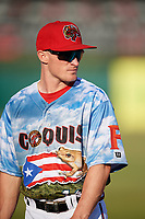 Florida Fire Frogs Marcus Mooney (11) before a game against the St. Lucie Mets on April 19, 2018 at Osceola County Stadium in Kissimmee, Florida.  St. Lucie defeated Florida 3-2.  (Mike Janes/Four Seam Images)