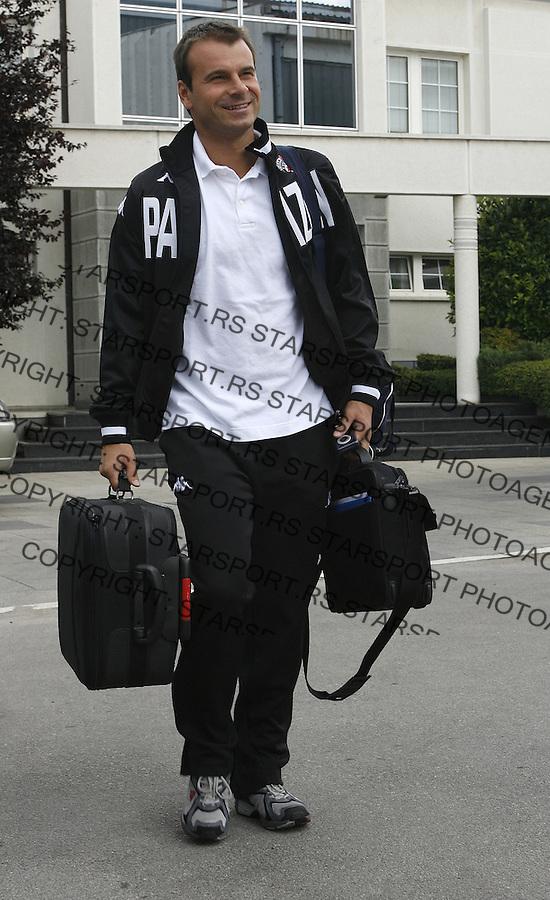 Fudbal, pripreme za sezonu 2007/08, FK Partizana.odlazak na pripreme u Holandiju.Aleksandar Stanojevic.Beograd, 05.07.2007..foto: Srdjan Stevanovic