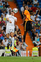 Real Madrid´s Welsh forward Gareth Bale and Galatasaray Carolo