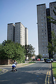 Gascoigne Estate in the London Borough of Barking and Dagenham, part way through a regeneration plan involving the demolition of all 16 of the estate's high rise blocks and the decanting of 1301 households by 2017.