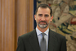 King Felipe VI of Spain during Royal Audiences at Zarzuela Palace in Madrid, Spain. January 27, 2015. (ALTERPHOTOS/Victor Blanco)