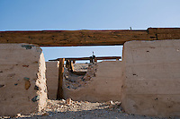 Ruins of Ashford Mill, built in 1914 by Harold Ashford and his brothers to process gold ore from their optimistically-named, but never profitable, Golden Treasure mine. Death Valley National Park, California.