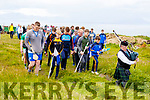 The piper leads the way at the Munster Puc Fada on the Kerryhead mountain in Ballyheigue on Saturday.