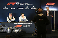 31st October 2019; Circuit of the Americas, Austin, Texas, United States of America; F1 United States Grand Prix, team arrival day; 2021 Regulation Press Conference with Ross Brawn, Managing Director of Formula 1 for Liberty Media and Nikolas Tombazis, FIA Head of Single Seater Technical Matters - Editorial Use