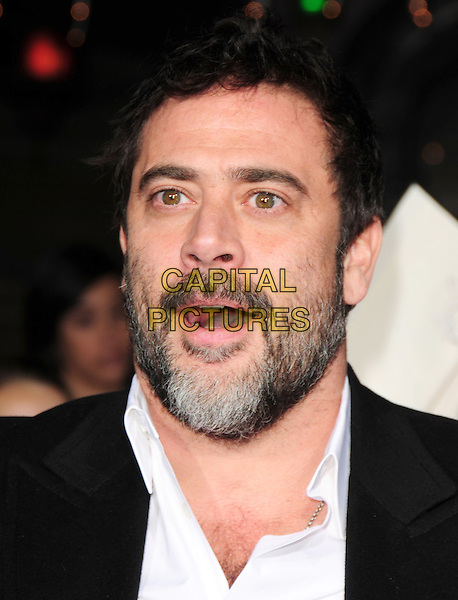 "JEFFREY DEAN MORGAN.Premiere of ""The Twilight Saga: New Moon"" held at The Mann's Village Theatre in Westwood, California, USA. .November 16th, 2009 .headshot portrait black white beard facial hair mouth open funny face .CAP/RKE/DVS.©DVS/RockinExposures/Capital Pictures."
