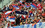 FUDBAL, KLAGENFURT, 29. May. 2010. -  Navijaci Srbije i Novog Zelanda. Prijateljska utkamica izmedju Srbije i Novog Zelanda odigrana u okviru priprema za Svetsko prvenstvo u Juznoj Africi. Foto: Nenad Negovanovic
