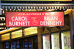 Theatre Marquee for 'Love Letters' starring Carol Burnett and Brian Dennehy directed by Gregory Mosher and written by playwright A.R. Gurney at the Brooks Atkinson Theatre on November 2, 2014 in New York City.