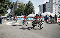 Team BMC (USA) speeding towards the finish<br /> <br /> Elite Men&rsquo;s Team Time Trial<br /> UCI Road World Championships Richmond 2015 / USA