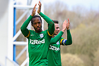 Preston North End's Daniel Johnson and Alan Browne applaud the fans<br /> <br /> Photographer Alex Dodd/CameraSport<br /> <br /> The EFL Sky Bet Championship - Blackburn Rovers v Preston North End - Saturday 9th March 2019 - Ewood Park - Blackburn<br /> <br /> World Copyright © 2019 CameraSport. All rights reserved. 43 Linden Ave. Countesthorpe. Leicester. England. LE8 5PG - Tel: +44 (0) 116 277 4147 - admin@camerasport.com - www.camerasport.com