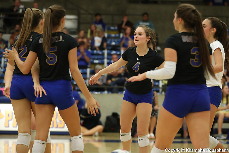 Boswell beats Chisholm Trail 3-2 in 7-5A high school volleyball on Friday, September 14, 2018. (Photo by Khampha Bouaphanh)