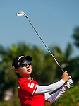Hyo-Joo Kim of Korea in action during the Hyundai China Ladies Open 2014 at World Cup Course in Mission Hills Shenzhen on December 14 2014, in Shenzhen, China. Photo by Xaume Olleros / Power Sport Images