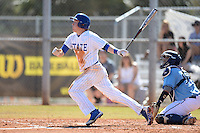 South Dakota State JackRabbits outfielder Paul Jacobson (23) at bat during a game against the Maine Black Bears at South County Regional Park on March 9, 2014 in Port Charlotte, Florida.  Maine defeated South Dakota 5-4.  (Mike Janes/Four Seam Images)