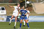 04 November 2009: Florida State's Becky Edwards (19) and Duke's Nicole Lipp (10). The Florida State University Seminoles defeated the Duke University Blue Devils 2-0 at Koka Booth Stadium in WakeMed Soccer Park in Cary, North Carolina in an Atlantic Coast Conference Women's Soccer Tournament Quarterfinal game.