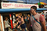 Brooklyn; New York; U.S. - August 9; 2014 - The Fourth Annual History Day at Deno's Wonder Wheel Amusement Park and The Coney Island History Project, has family fun music, history, and entertainment at historic Coney Island.