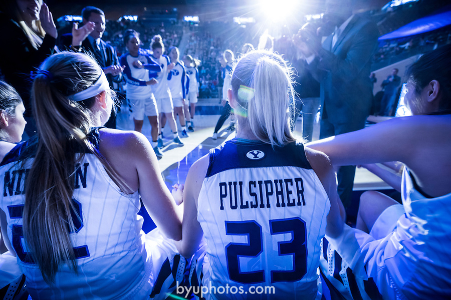 _E2_3049<br /> <br /> 16-17wBKB vs Gonzaga<br /> Senior Night<br /> <br /> BYU: 71<br /> Gonzaga: 63<br /> <br /> December 9, 2016<br /> <br /> Photography by Nate Edwards/BYU<br /> <br /> © BYU PHOTO 2016<br /> All Rights Reserved<br /> photo@byu.edu  (801)422-7322