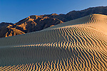 Wind blown sand patterns in the Mesquite Sand Dunes, near Stovepipe Wells, Death Valley National Park, California