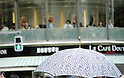 July 8, 2011 - Tokyo, Japan - Japanese people, especially middled-aged women, use parasols during the hot Summer months to avoid any form of skin cancer. Today, parasols are also becoming popular among young adult women due to various designs and colors available on the market. (Photo by Yumeto Yamazaki/AFLO)